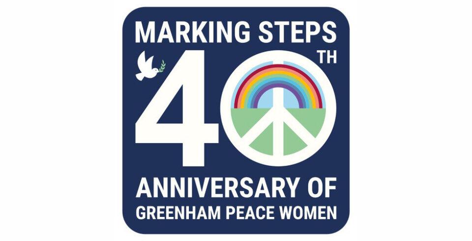 A logo of the 40th anniversary of Greenham Peace Women